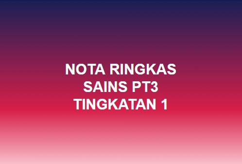 Blog Sains Pt3 Nota Ringkas Sains Pt3 Tingkatan 1