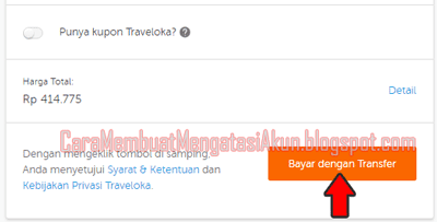 pembayaran traveloka via transfer