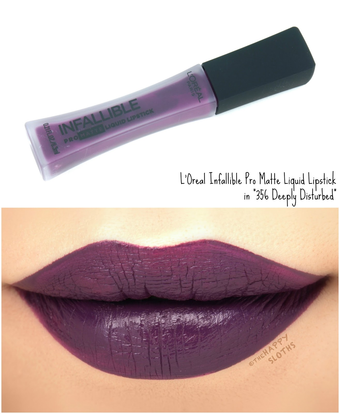 "L'Oreal Infallible Pro Matte Liquid Lipsticks ""356 Deeply Disturbed"": Review and Swatches"