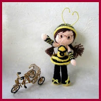 Chica abeja amigurumi
