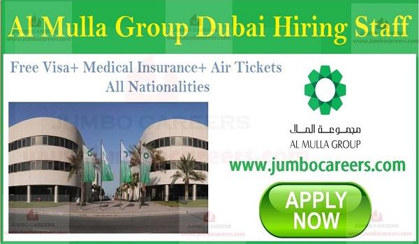 Vacancies in UAE with salary, Job openings in UAE,