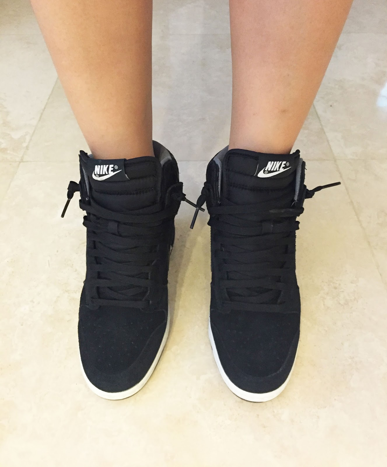 best authentic 99635 05478 ... black snake effect wedge sneakers 63844 23e14  spain nike dunk sky hi  grey 562e9 78924