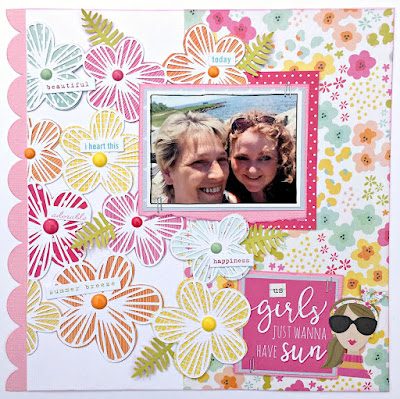 girls wanna have fun tracee provis scrapbook layout paprmaze simple stories