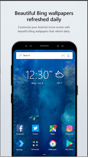 Aplikasi Launcher Terbaik Tanpa Iklan: Microsoft Launcher APK