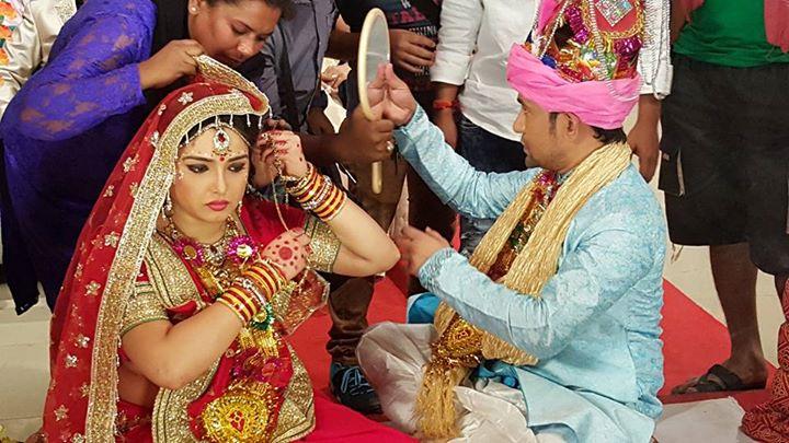 Dinesh Lal Yadav 'Nirahua', Amrapali Aashiq Aawara Shooting pic