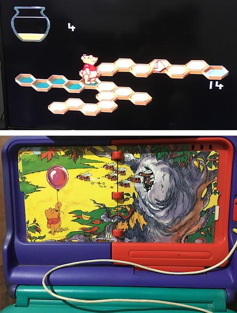 jogo do Pooh no Sega Pico