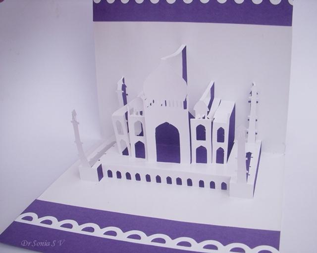 Origamic Architecture Taj Mahal