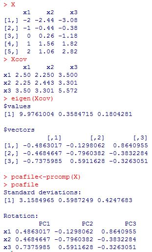 "PCA file calculation with ""R""."