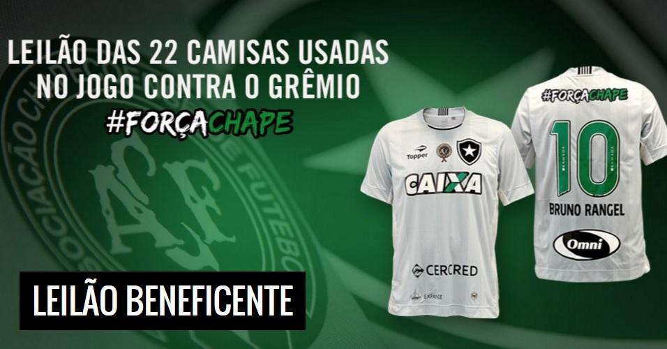 43cf0e1ad5a8f O Botafogo vai leiloar as camisas utilizadas pelo time em seu último jogo  no Campeonato Brasileiro 2016