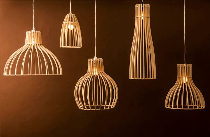 Wood & Bamboo Pendant Lights 19