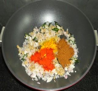 onion fried and masala added