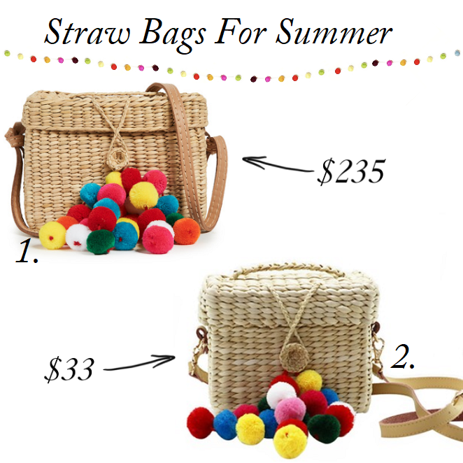 Straw Bags on budget, Nannacay Pom Pom Bag for less, Best straw bags for summer, designer straw bags lookalike