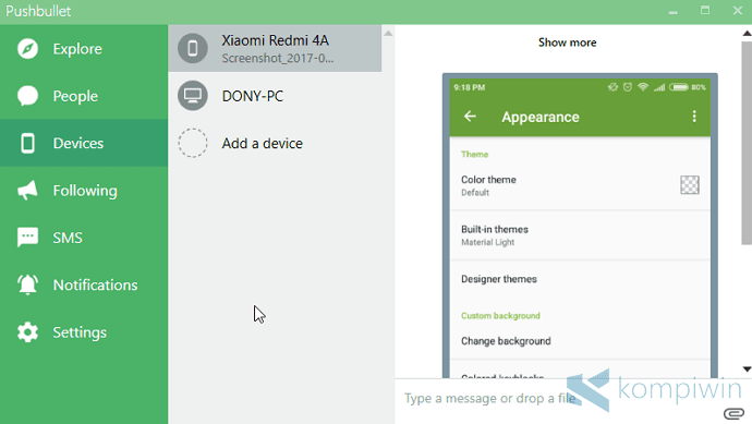 aplikasi android mentransfer file