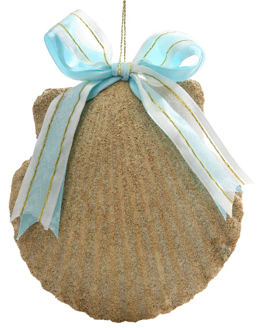 Seashell Ornaments with Ribbon