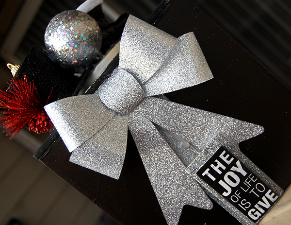 Black and Silver Ornament Gift Box