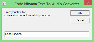 Text to Audio using Notepad