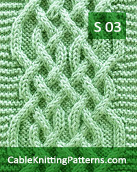 How to knit the Celtic Weave cable scarf -Free Pattern 03.  A soft infinity scarf with turning cables