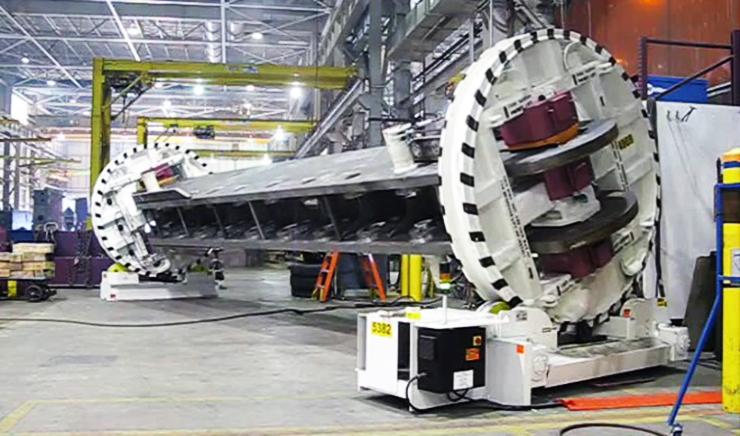 Кондуктор-ротатор длинномерных металлических конструкций