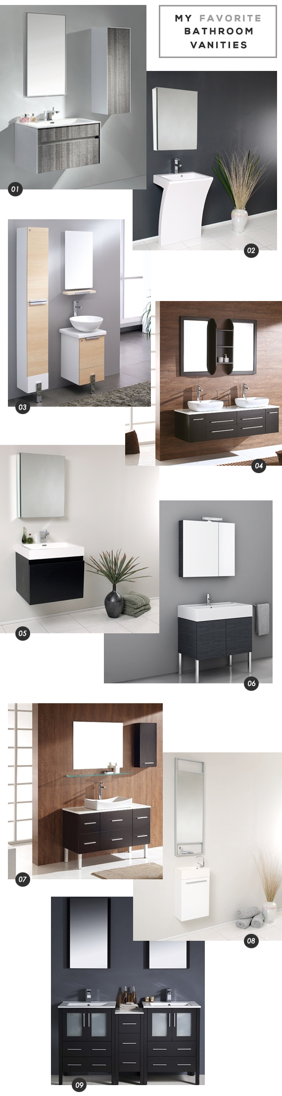 The Best Modern Bathroom Vanities // Bubby and Bean