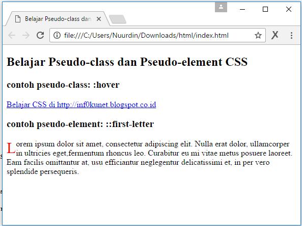 Tutorial Css Terusan 15 Attribute Selector Dalam Css Dan Pseudo Class Dan Pseudo Element Css Infoku Net