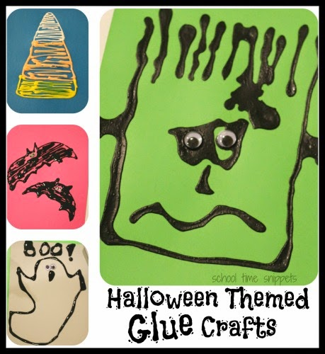 Halloween Themed Glue Crafts