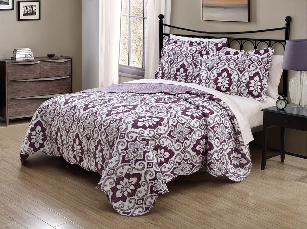 Grey And Purple Bedding Sets