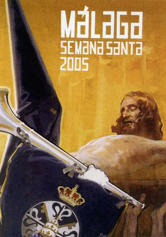 Cartel 2005 Semana Santa de Málaga,Félix Revello de Toro, Retratos de Revello de Toro, Pintor español