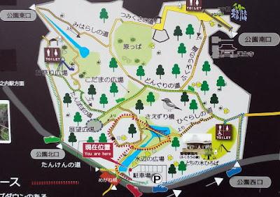 八王子市の蓮生寺公園 園内の案内