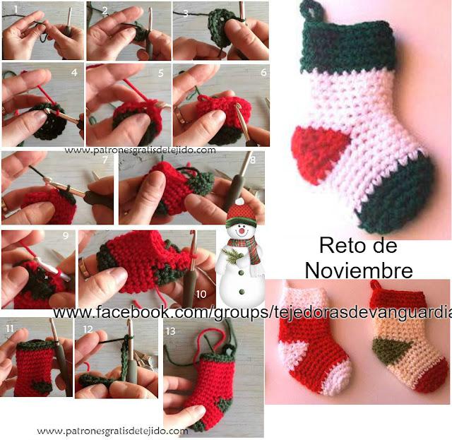 como-tejer-decoración-Navidad-paso-a-paso