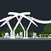 مخطط موقف حافلات bus station اوتوكاد dwg