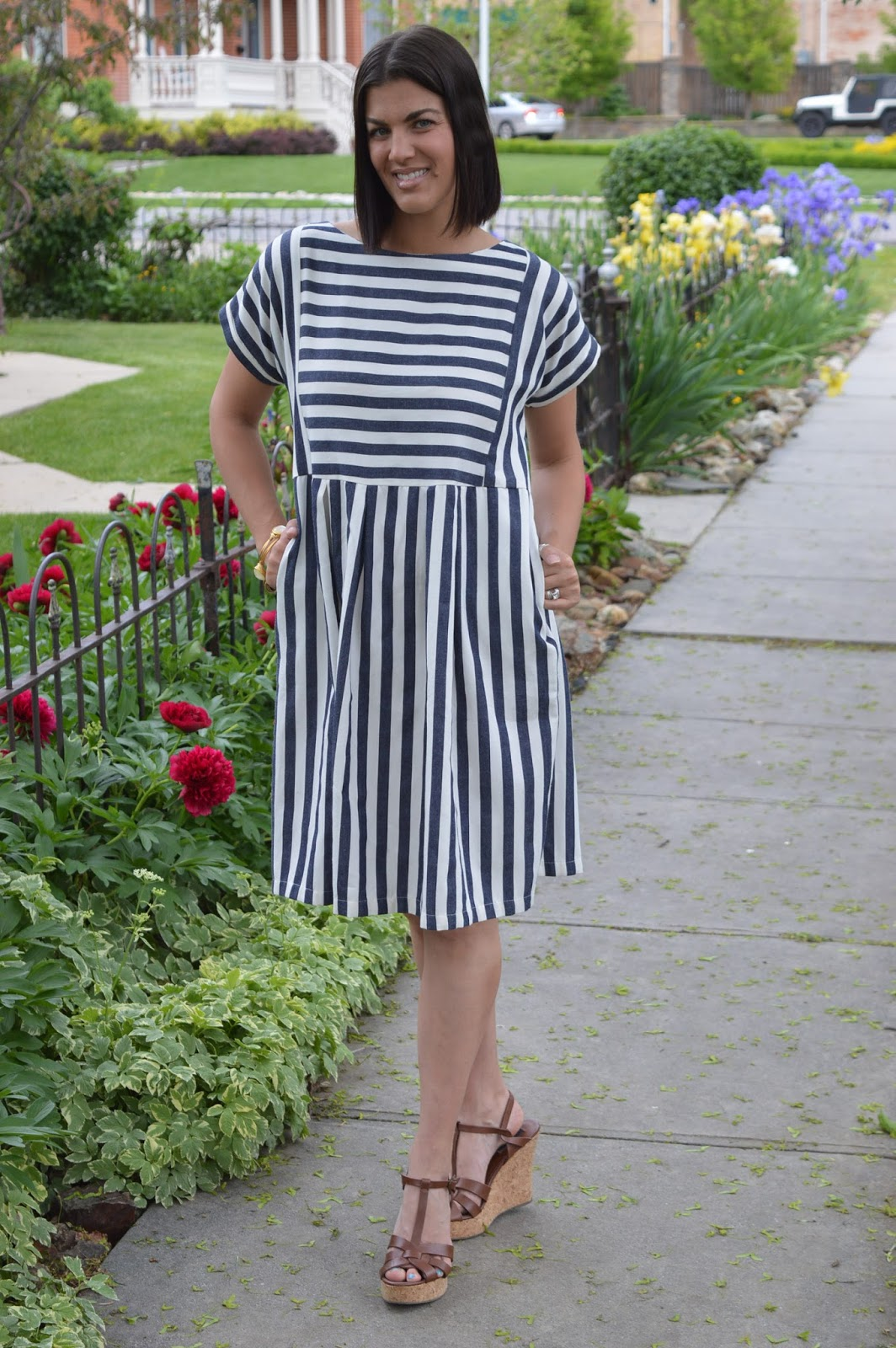 http://taralynnsboutique.com/collections/short-dresses/products/striped-bib-dress