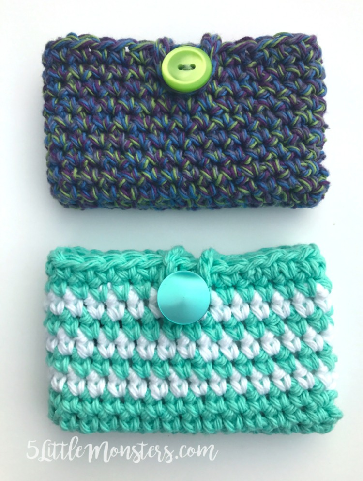 5 Little Monsters: Simple Crocheted Card Holder