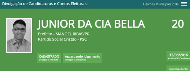 """Manoel Ribas: Coligação """"Juntos Podemos Mudar"""" já está disponível para consulta"""