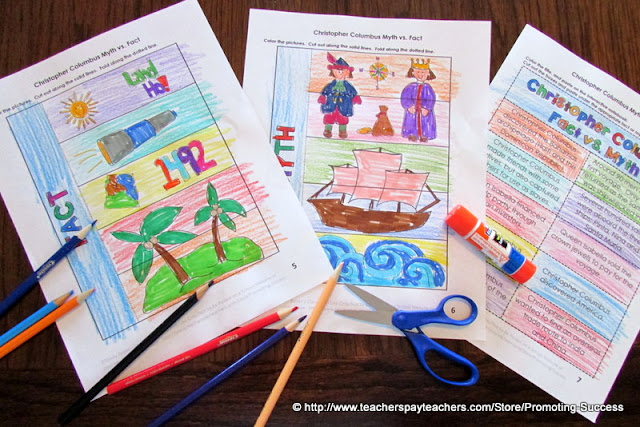 Columbus Day Activities Foldable