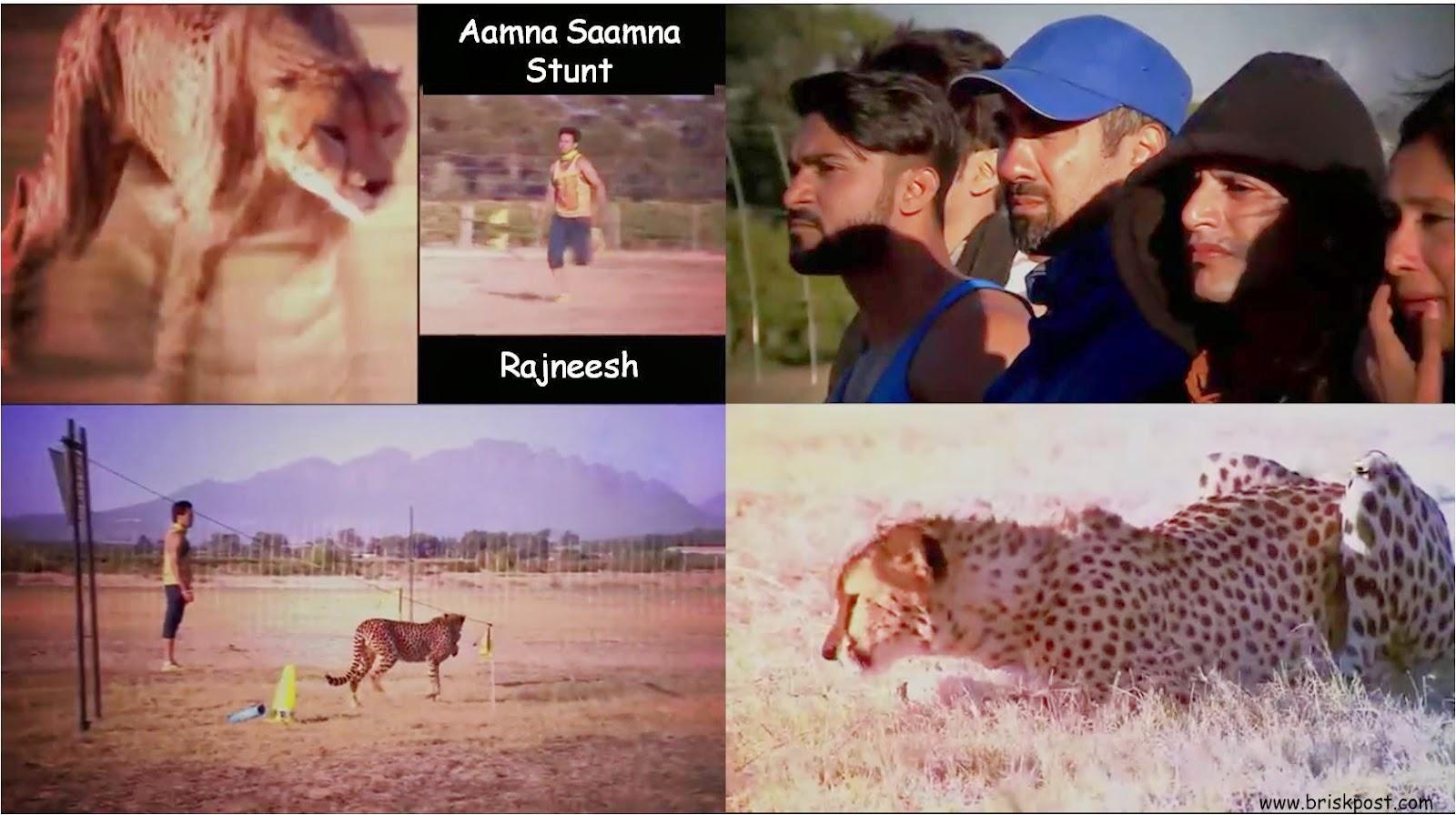 Rajneesh running to face tiger during Fear Factor Khatron Ke Khiladi stunt