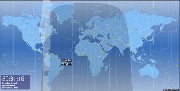 mapa relógio hora certa mundial