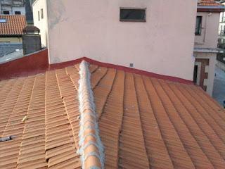 foto eeparacion medianeras y caballetes en tejado de madrid.