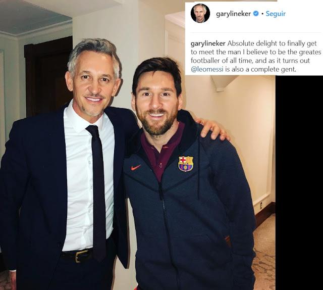"""Gary Lineker: """"Messi es el mejor futbolista de todos los tiempos"""""""