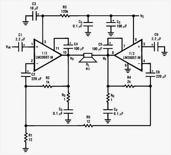 tda2005 audio amplifier circuits