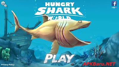 Hungry Shark World v1.0.6 MOD Apk+OBB Data Terbaru