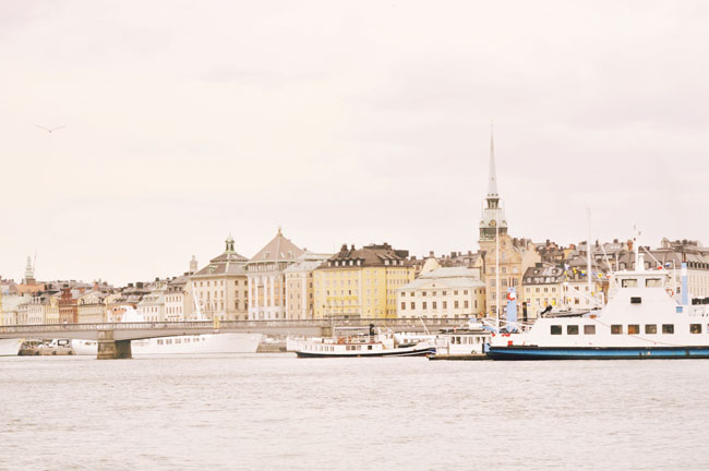 Best Stockholm Instagram Spots - view of Gamla Stan from boat cruise