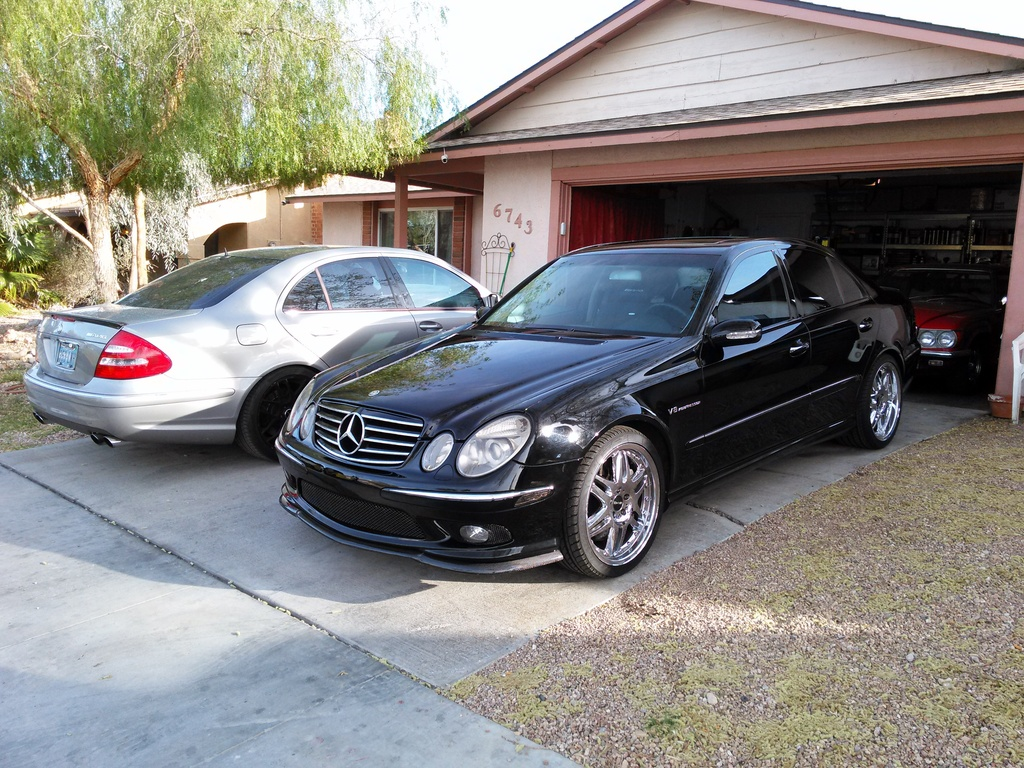 2004 mercedes benz w211 e55 amg on 19 chrome wheels benztuning. Black Bedroom Furniture Sets. Home Design Ideas