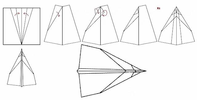 Avión de papel Wing 16