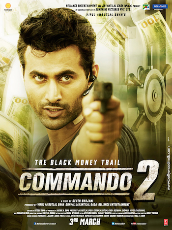 Commando 2 2017 Hindi pDVDRip Full Movie 700MB
