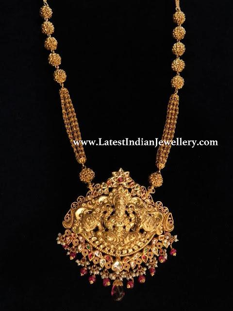 Gold Lakshmi Haram from Totaram