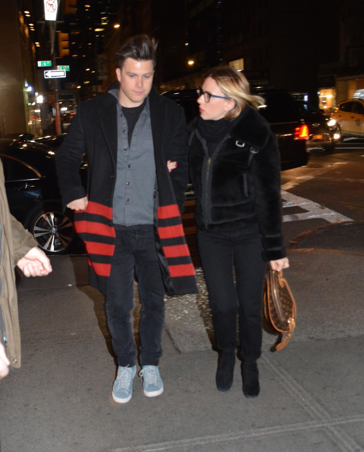 Scarlett Johansson And Colin Jost Clicked At Out Side In Nyc