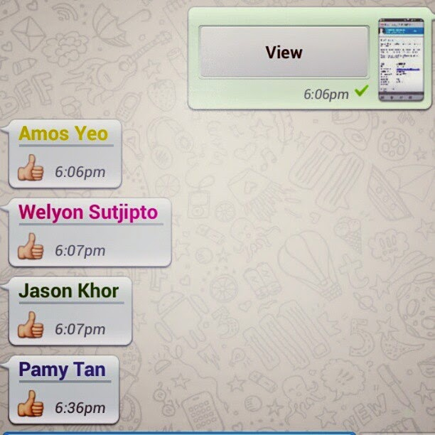 staff with students group subject in whatsapp