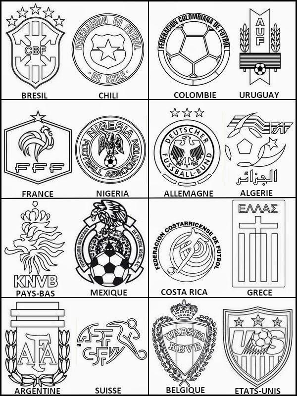 Bonjour les enfants le blog coloriage des 8 mes de finale de la coupe du monde - Logo club foot bresil ...