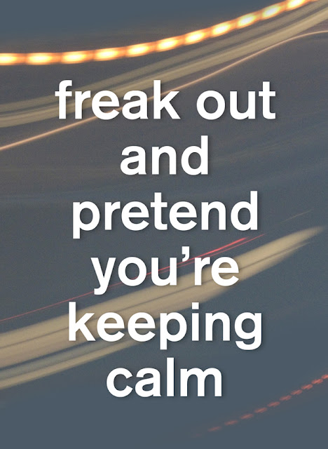 05/ freak out and pretend you're keeping calm