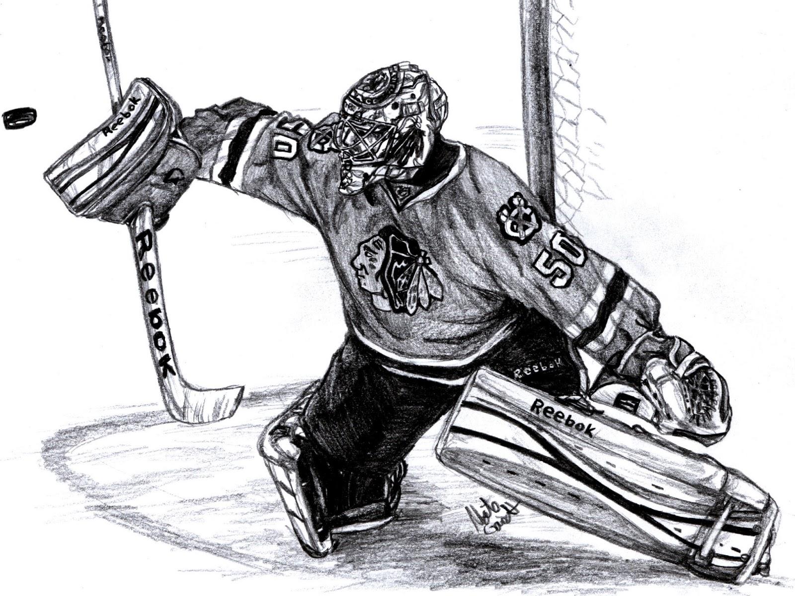 хоккеист рисунок карандашом выхода электрона